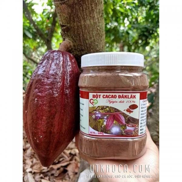 Bột cacao nguyên chất ĐắcLắk 500g