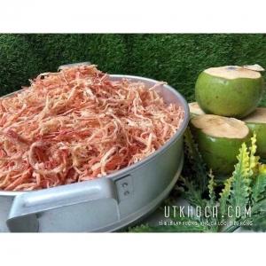 Khô mực hấp nước dừa xé sợi